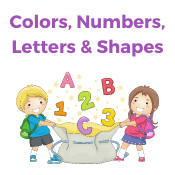 Colors Numbers Letters and Shapes